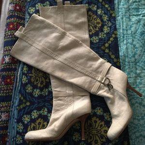 DIOR Leather CANNAGE knee high boots ITALY size 39